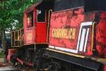 uitgerangeerde trein in Havanna, Cuba